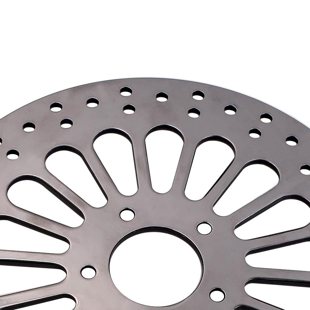 """Pair Front Super Spock Brake Rotor for Harley Dyna 00-05 11.5/"""" Polished SS Spoke"""
