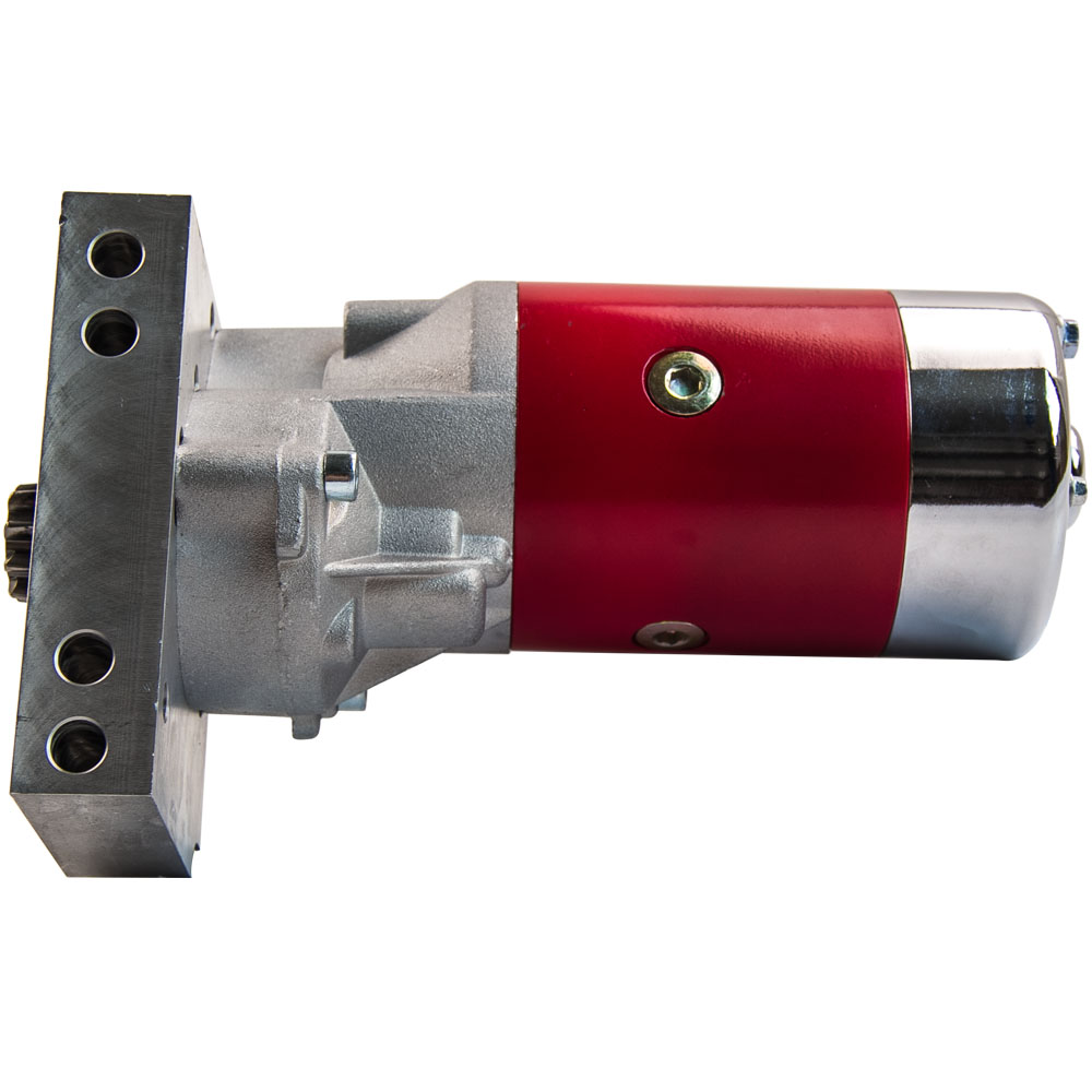 SBC BBC Chevy 3HP Mini Starter Red Dual Inline 153 168 Tooth 305 350 396 454
