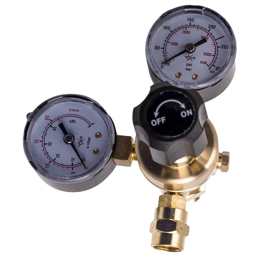 Industrial Argon Regulator Flowmeter Gauges Welders W// Inert Gas Hose