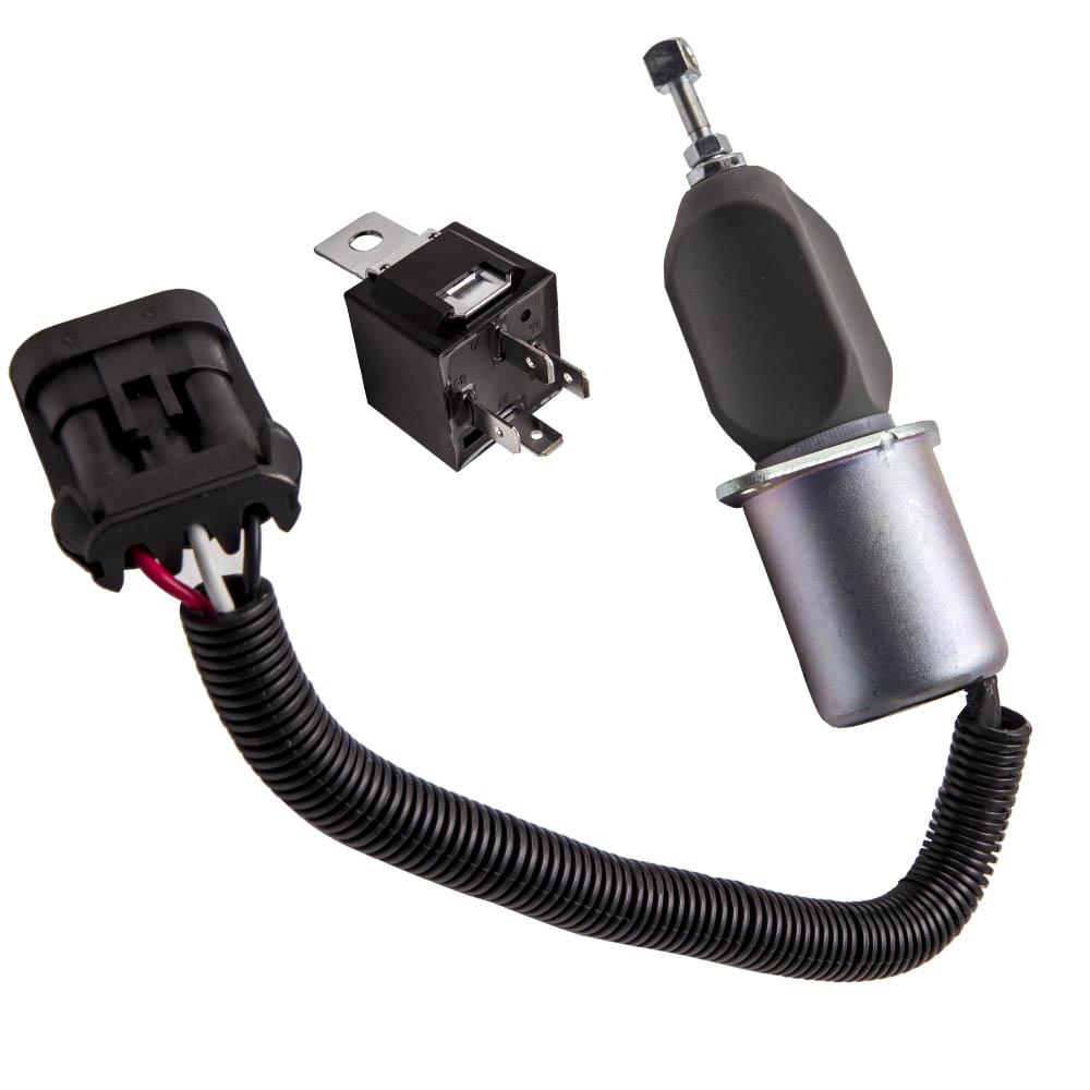 Fuel Shut Off Solenoid w/ Relay For Dodge Ram 2500 5.9L ...