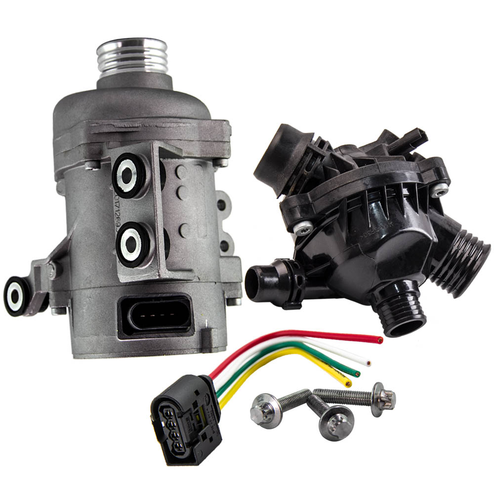 New Electric Engine Water Pump With Thermostat For BMW X3 X5 328I -128i 528i