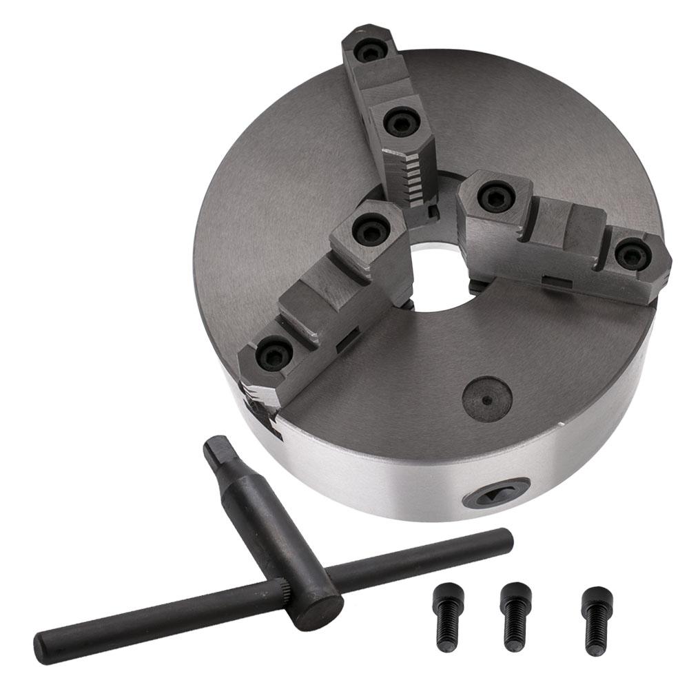 Three Jaw Self Centering Lathe Chuck Milling 8/'/' 3-M10 Hardened Steel K11-200A