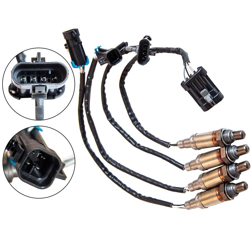4Pcs Front Rear O2 Oxygen Sensor 1 2 For Chevrolet 96 97 98 HRV GMC C//K 1500