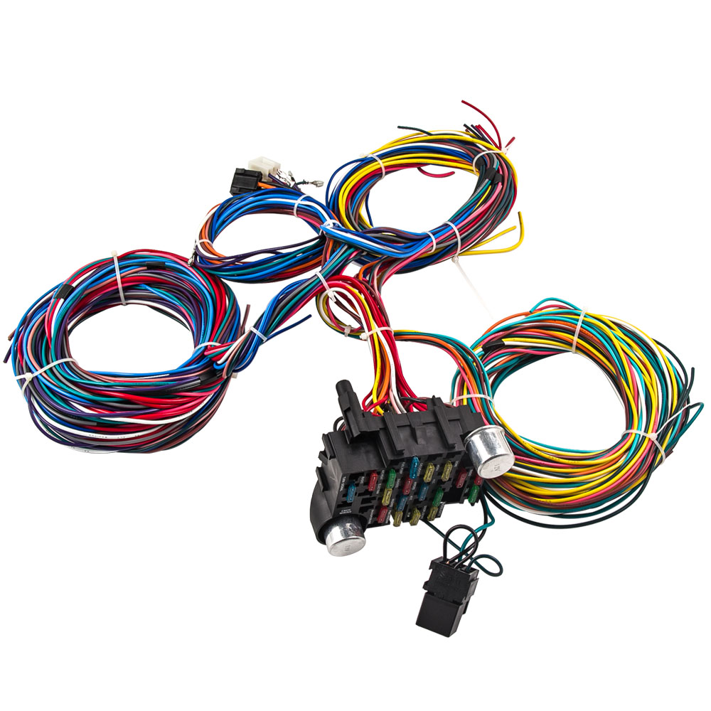 universal 21 circuit wiring kit harness street hot rod