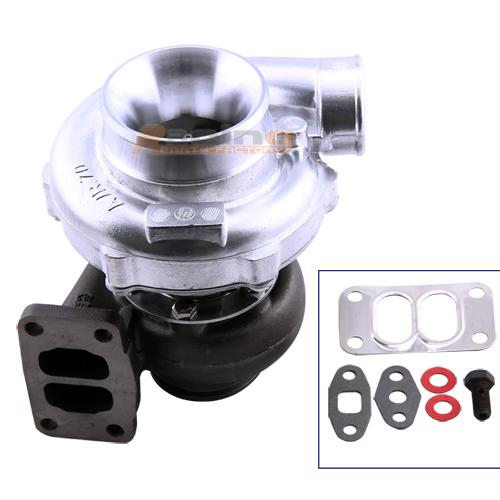 T70 .70 A/R T3 V Band Flange Oil Turbocharger Turbolader for 1.8L-3.0L 600HP