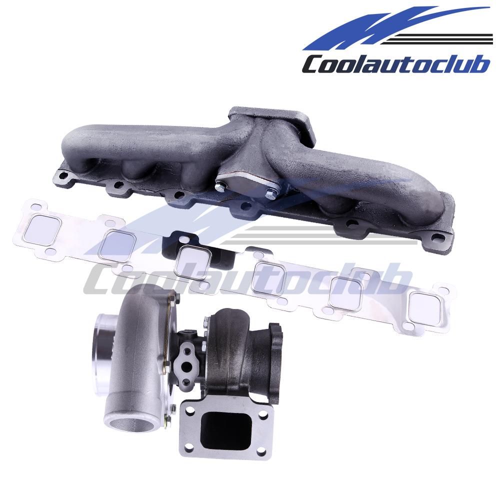 Exhaust Manifold T3 Gt3582 Turbo For Nissan Safari Patrol 42l Kits Gq Td42 Y61 Y60 Turbocharger