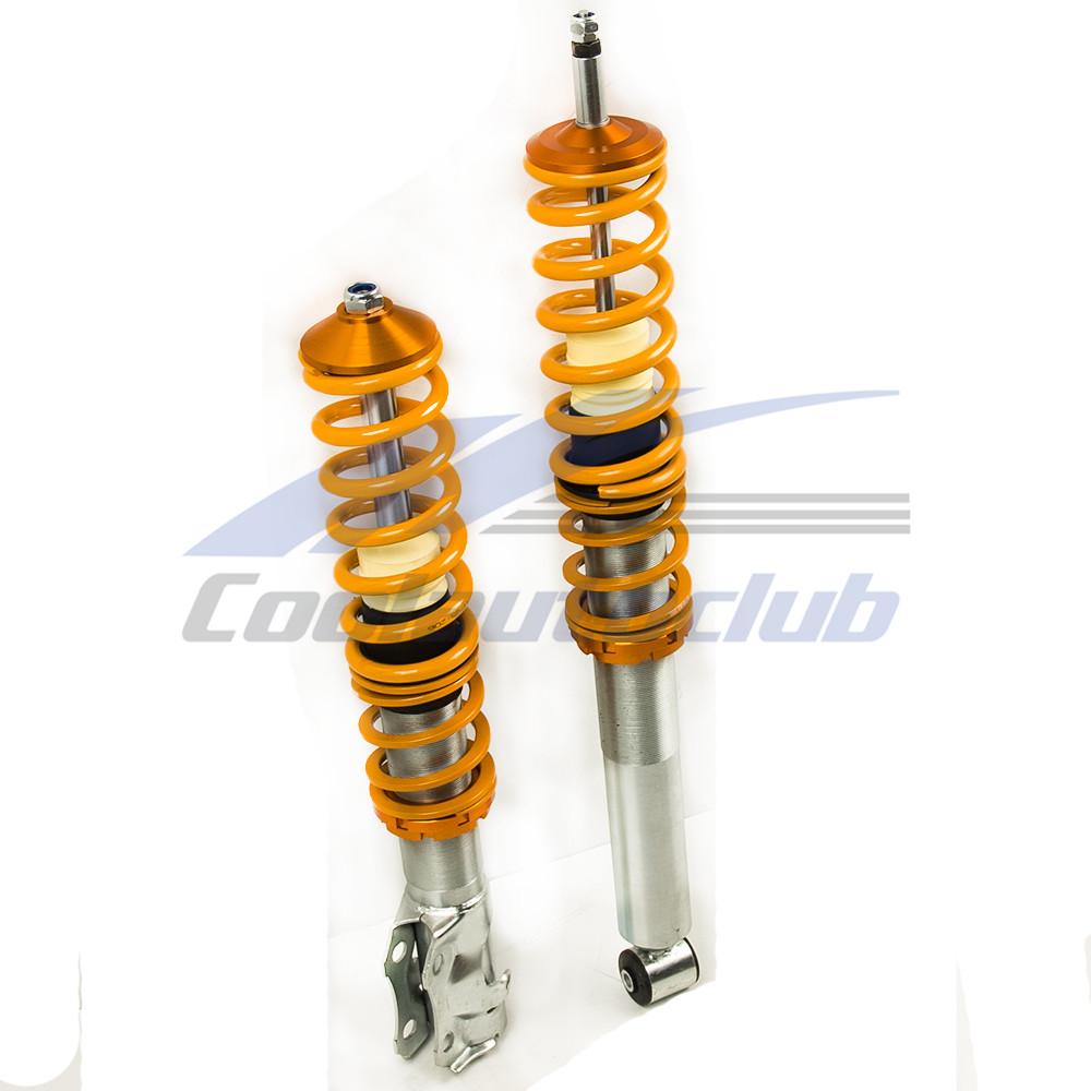 Lowering Suspension Coilover Kit For Vw Mk2 Mk3 Golf And Jetta Orange Struts Ebay
