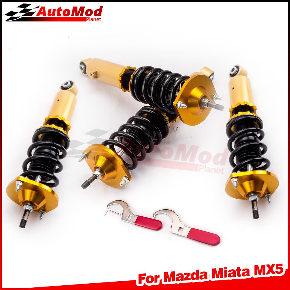 for Mazda Miata MX5 90-05 NA6C NA8C NB8C Adj Coilover Coilovers kit F/7KG R/6KG