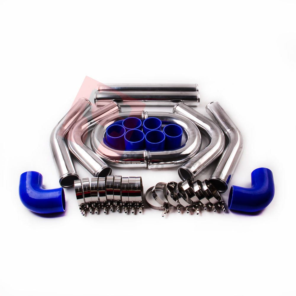 "Ford Universal Turbo Kit: UNIVERSAL TURBO BOOST INTERCOOLER PIPE KIT 2.5"" 64mm 8 PCS"