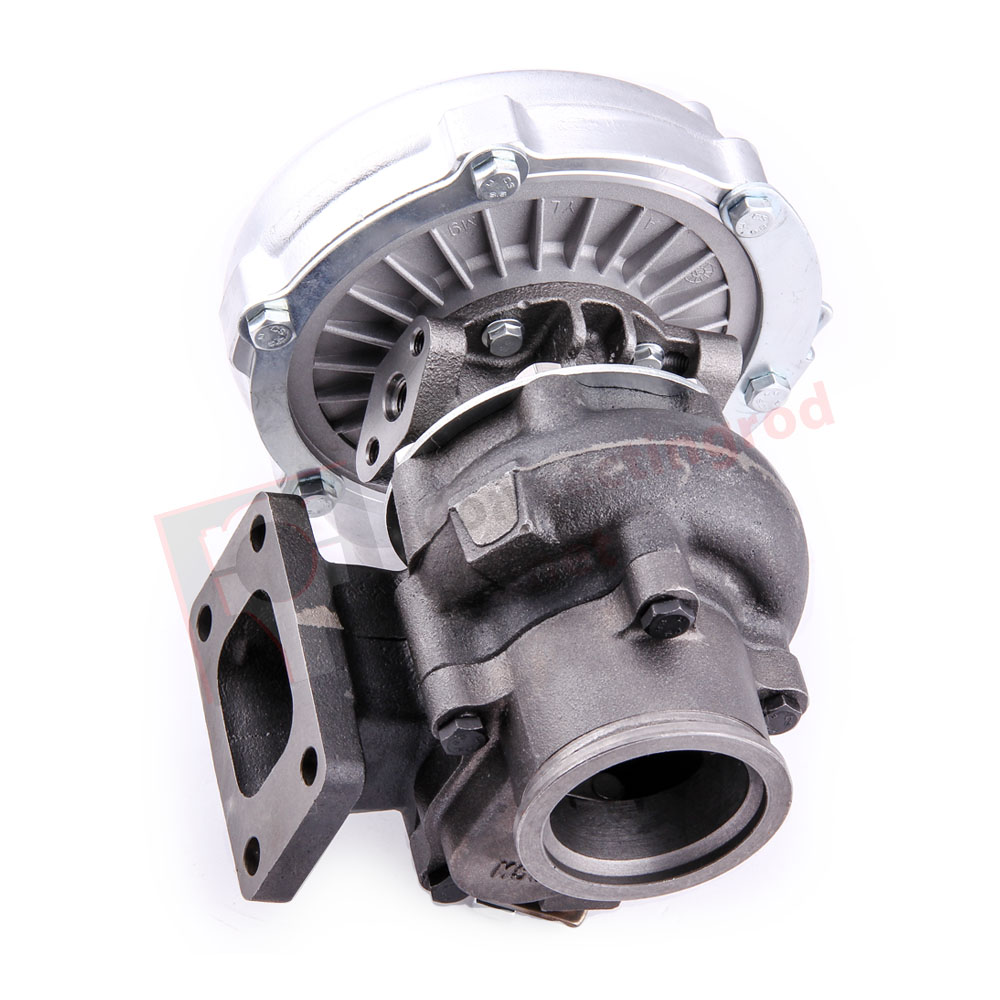 "Universal Turbo Kit 4 Cylinder: Turbo T3T4 T04E Com A/R .63 A/R.60 Oil Cold 3"" V Band"