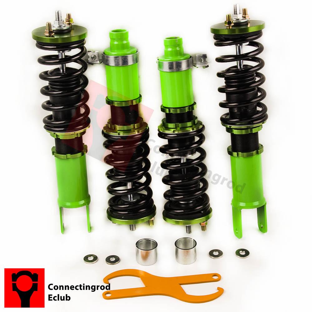 For Honda Acura Civic 92-95 Integra 94–01 Adjustable Coilovers Coil Shocks Green