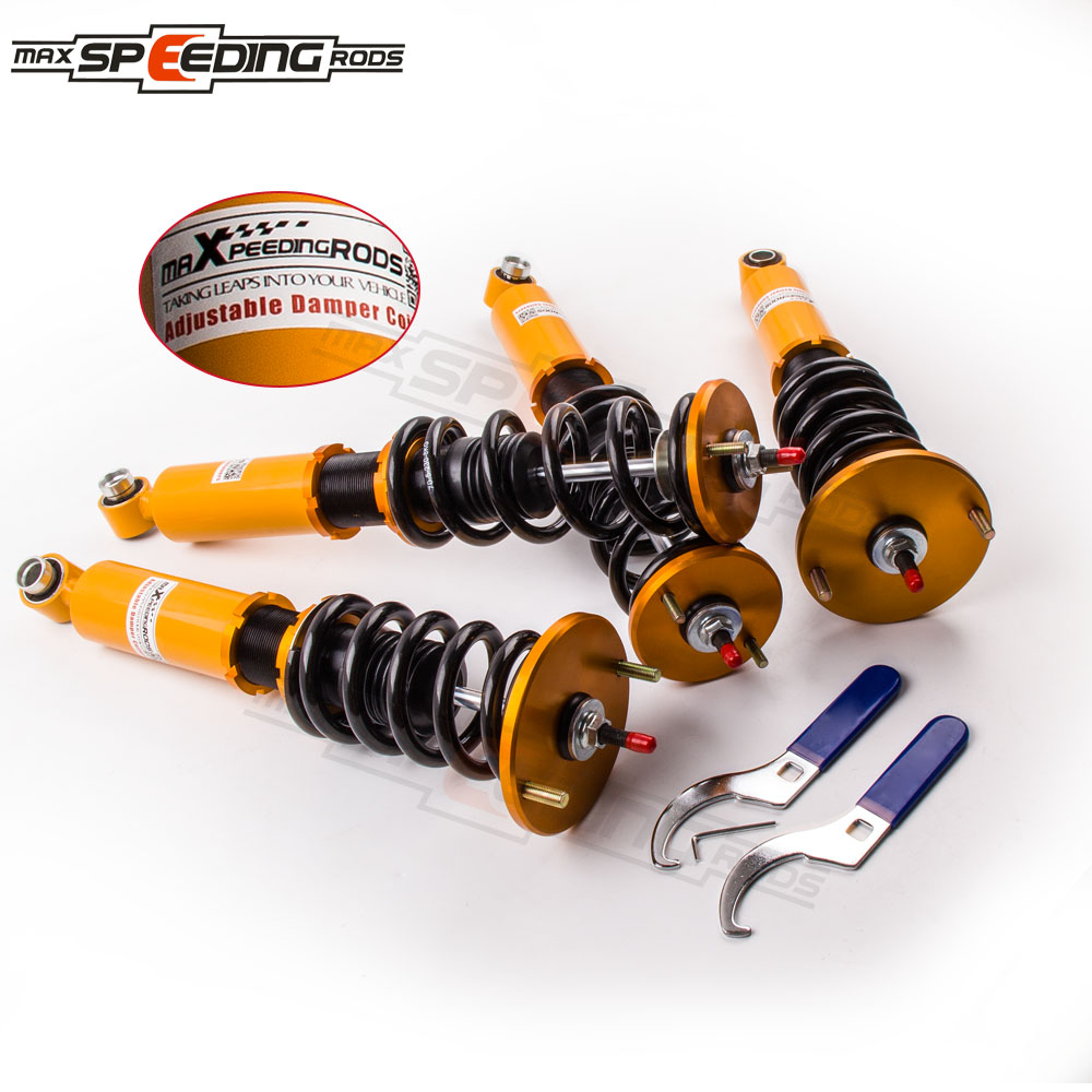 For nissan r32 gts gtr z32 300zx adjustable performance front coilover suspension for nissan skyline r32 gtt 89 gts t adj damper coilovers vanachro Images
