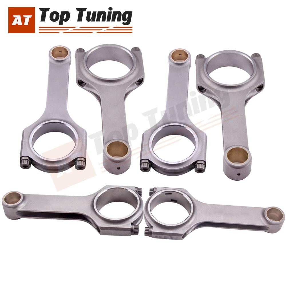 Connecting Rod H-Beam for BMW E36 3.0L M3 S50B30 Conrods ConRod Bielle 142mm ARP
