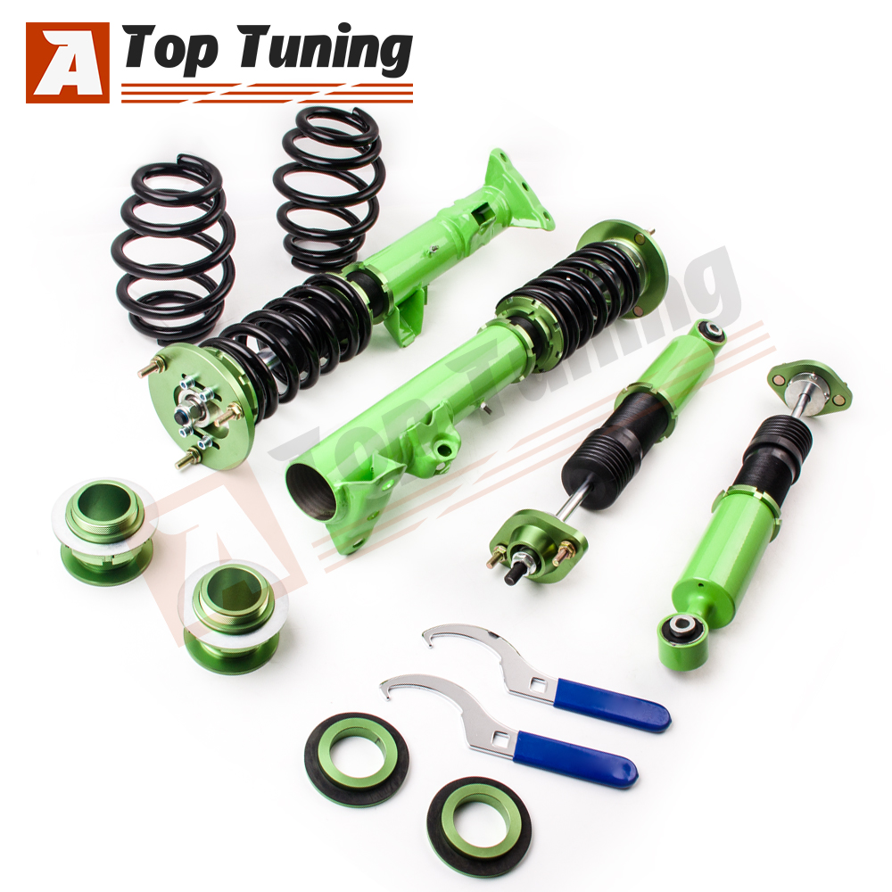 BR Coilovers for BMW E36 3 Series 316 318 323 325 328 M3 Coilover Struts Green
