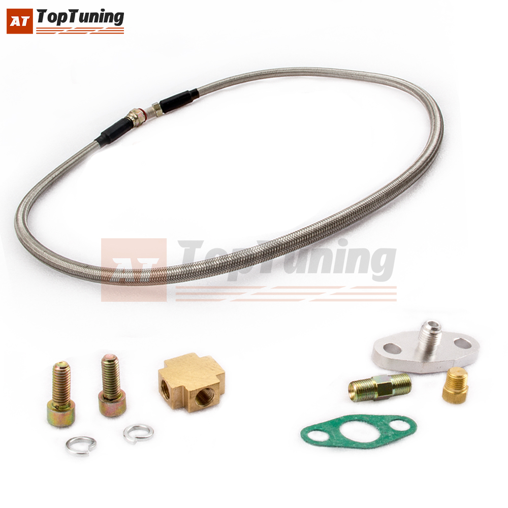 TURBO RACE OIL SUPPLY LINE T3 T4 T04E T04B For BMW E36 E46 E92 F10 E60 F36