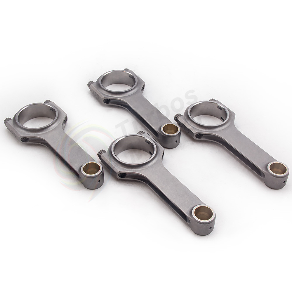 4340 Steel H-Beam Connecting Rods For VOLVO B230 B234 152mm 4 Pieces Conrods